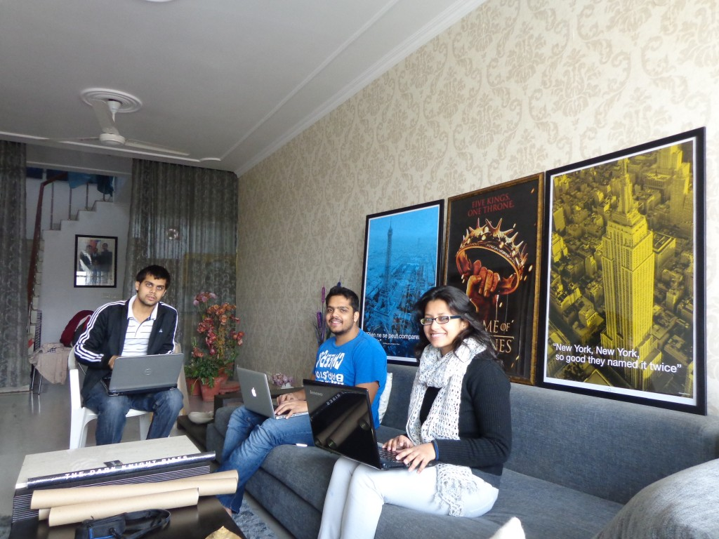 Rohan, Mohit and Kriti