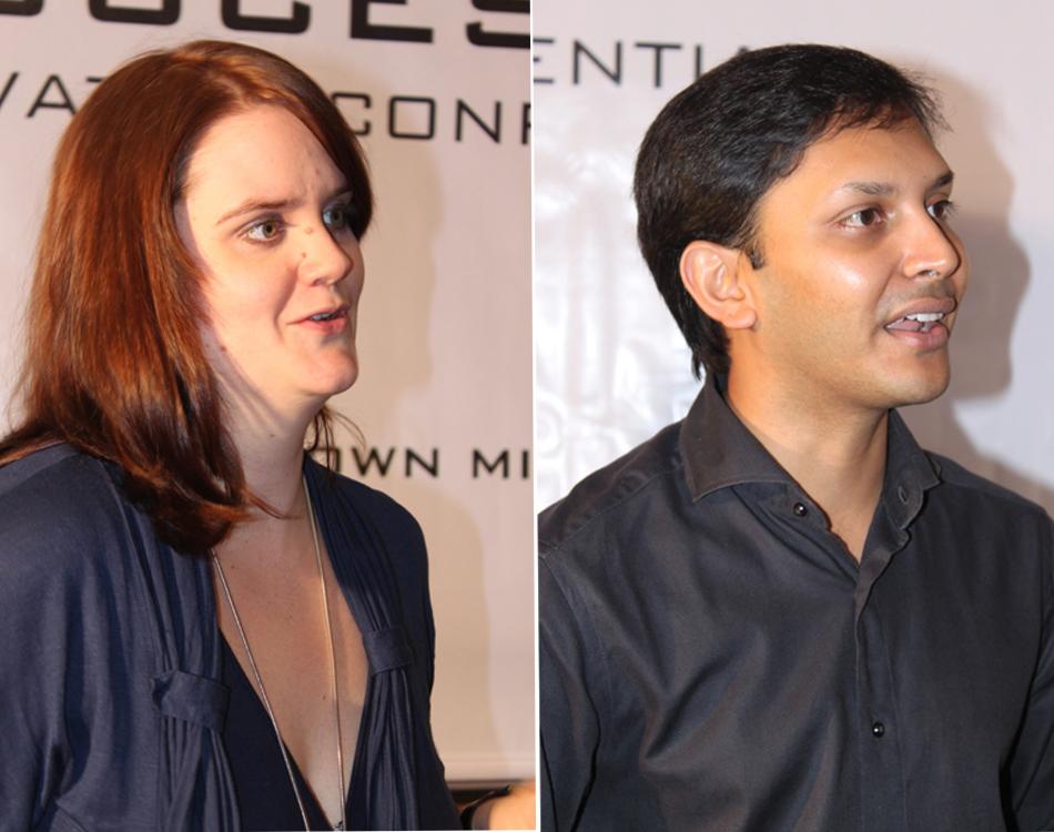 Rubia Braun and Kranti Varma. Image Credits: www.technobitez.com