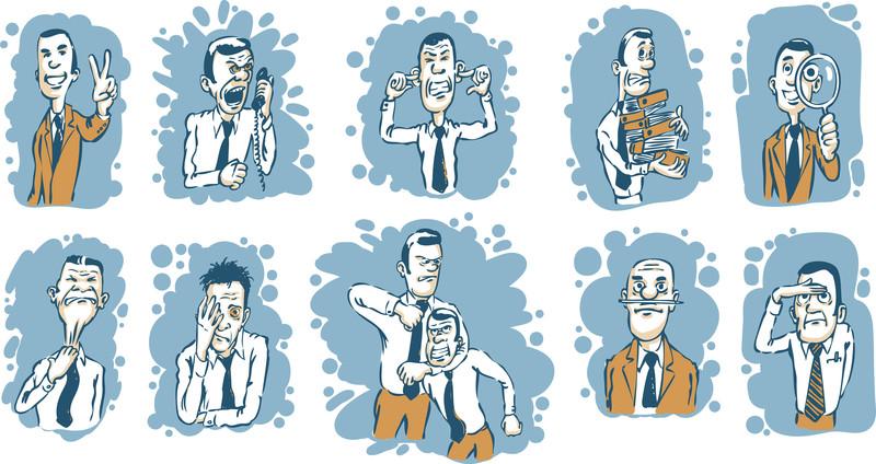 Cartoon-business-men