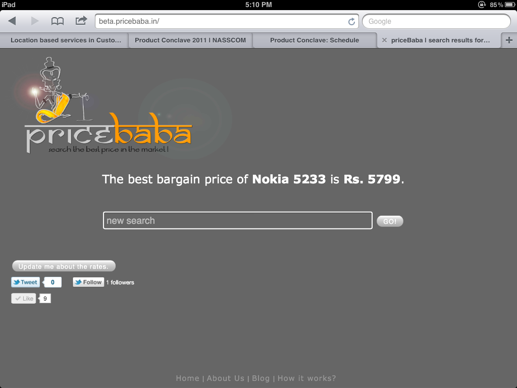 First version of PriceBaba