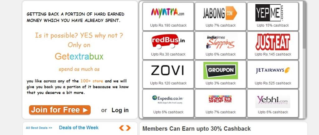 cashback india, getextrabux