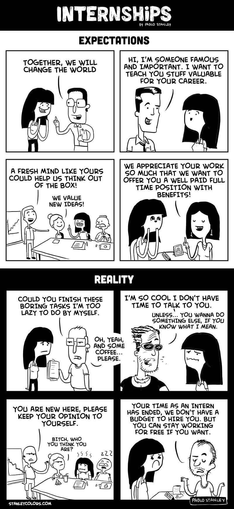 Internship comic