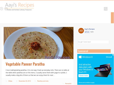 Indian food blogs